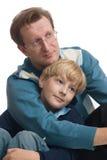 Vader en zoon. Royalty-vrije Stock Afbeeldingen