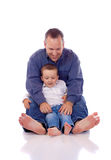 Vader en zoon Royalty-vrije Stock Afbeeldingen