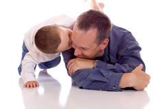 Vader en zoon Stock Foto