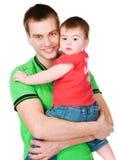 Vader met baby Royalty-vrije Stock Foto
