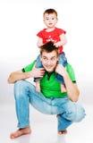 Vader met baby Stock Foto