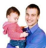 Vader met baby Stock Afbeelding