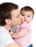 Vader met baby Stock Foto's
