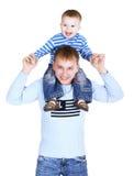 Vader met de kleine zoon Stock Afbeelding
