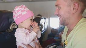 Vader met dochter stock footage