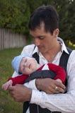 Vader met een zoon Stock Fotografie