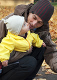 Vader met kind Royalty-vrije Stock Fotografie