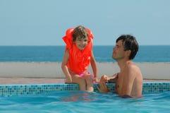 Vader met kind Royalty-vrije Stock Afbeeldingen