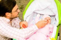 Vader met kind Stock Fotografie