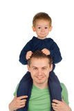Vader met kind Stock Foto