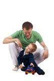 Vader met kind Royalty-vrije Stock Afbeelding