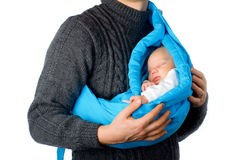 Vader met weinig baby royalty-vrije stock foto's