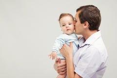 Vader met zijn babyzoon Royalty-vrije Stock Afbeelding