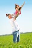 Vader met zijn dochter royalty-vrije stock afbeeldingen
