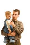Vader met zijn kind Royalty-vrije Stock Afbeeldingen