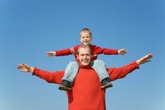 Vader met zoon Royalty-vrije Stock Afbeeldingen