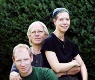 Vader met zoon en dochter Stock Foto's