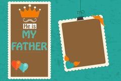 Vader` s Dag - hij is Mijn Vader - Mijn Papa Royalty-vrije Stock Foto's