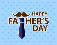 Vader` s dag met illustratie van het tekst de vlakke ontwerp Stock Fotografie