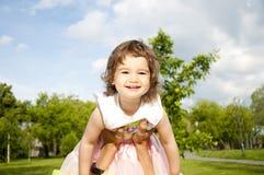 vader spelen met de dochter Stock Foto's