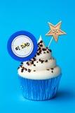 Vaderdag cupcake Royalty-vrije Stock Afbeelding