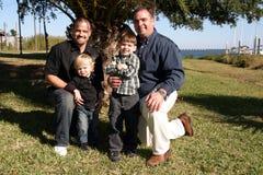 Vaders en zonen Stock Foto