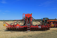 Vaderstad Spirit 600C Seed Drill on Stubble Field Royalty Free Stock Photos