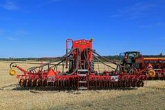 Vaderstad Spirit 600C Seed Drill on Stubble Field Royalty Free Stock Photos