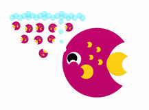 Vadervissen vector illustratie
