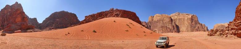 Vadi RAM - Jordanien. Panorama Stockfotografie