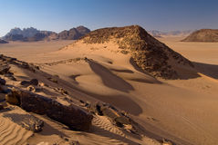 Vadi Rum desert. Waves on sand in Vadi Rum desert Stock Photography