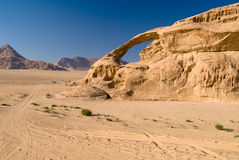 Vadi Rum desert. Natural bridge Stock Images