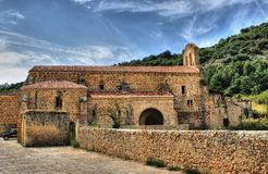Vadillo古老女修道院在Frias 免版税库存图片