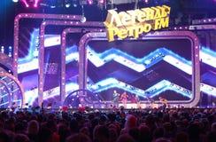 Vadim Kazachenko在场面唱歌 免版税库存图片