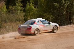 Vadim Michaylov drives a Subaru Impreza Stock Photography