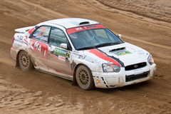 Vadim Michaylov drives a Subaru Impreza Stock Images