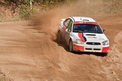 Vadim Michaylov drives a Subaru Impreza  car Royalty Free Stock Photo