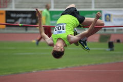 Vadim Vrublevskiy - high jump Royalty Free Stock Photos