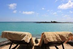Vadios de Sun em Mauritius Coast Fotografia de Stock