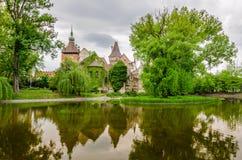 Vadjahunyad castle over the lake, Budapest,Hungary Royalty Free Stock Image