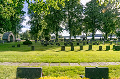 Tomb stone in Sweden Royalty Free Stock Image