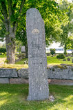 Cemetery with tomb stone in Sweden Royalty Free Stock Photography