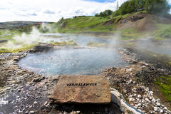 Vadmalahver hot spring in Fludir Iceland Stock Images