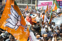 VADODARA, GUJARAT/INDIA - 9th April 2014 : Narendra Modi filed his nomination papers from Vadodara Lok Sabha seat Royalty Free Stock Photography