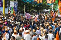 VADODARA, GUJARAT/INDIA - 9th April 2014 : Narendra Modi filed his nomination papers from Vadodara Lok Sabha seat Royalty Free Stock Image