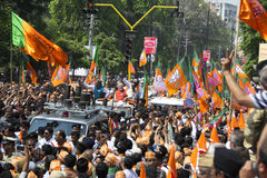 VADODARA, GUJARAT/INDIA - 9th April 2014 : Narendra Modi filed his nomination papers from Vadodara Lok Sabha seat Royalty Free Stock Photo