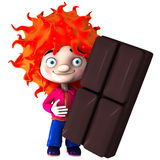 Vadoo with choco bar Royalty Free Stock Photography