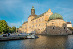 Vadstena castle during summer in Sweden Royalty Free Stock Photos