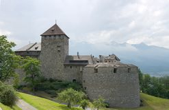 Vaduz castle. (founded XII century), the palace and official residence of the Prince of Liechtenstein Royalty Free Stock Images