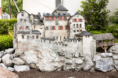 Vaduz castle model Royalty Free Stock Image
